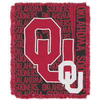Oklahoma Sooners NCAA Triple Woven Jacquard Throw (Double Play Series) (48x60)