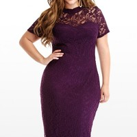 Plus Size Lovelace Dress | Fashion To Figure