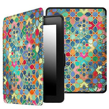 Fintie Case for Kindle Paperwhite - The Thinnest and Lightest PU Leather Cover Auto Sleep/Wake for All-New Amazon Kindle Paperwhite (Fits All 2012, 2013, 2015 and 2016 Versions), Bohemian Ledge