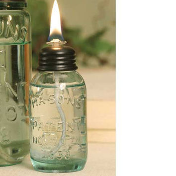 Miniature Mason Jar Oil Lamp