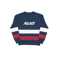 Stripe Panel Crew Navy/White/Red | Palace Skateboards