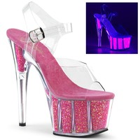 "Adore 708UVG Hot Pink 7"" High Heel"