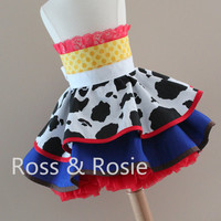 Jessie/Toy Story inspired Dress Up Costume Apron, Half Apron style... Made to Order