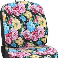 Bell Automotive 22-1-56949-9 Black Floral Low-Back Bucket Seat Cover
