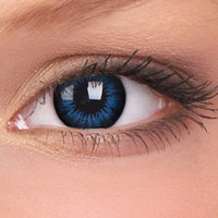 Coloured Contact Lenses | Cool Blue Big Eyes Contact Lenses (Pair)