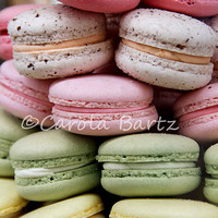 French Macaroons Photo Greeting Card, Colorful Tiny Cakes, Fine Art Photography, All Occasion Card, Food Photograph, Sweet Delight