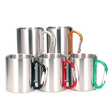 Stainless Steel Double Walled Mugs, Hiking, Travel Cups, Metal Mugs