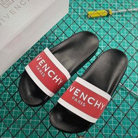 Givenchy Paris Sandals In Rubber Black Red White - Best Online Sale