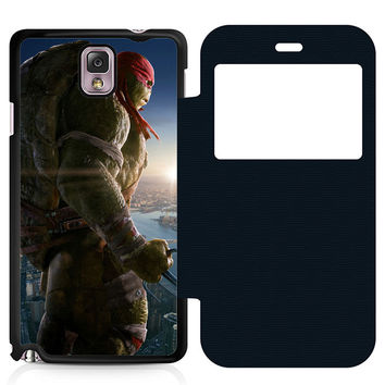 Ninja Turtles Raphael Leather Wallet Flip Case Samsung Galaxy Note 3