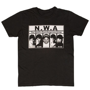 [SOLD OUT] The World's Most Dangerous Group N.W.A Tee Black