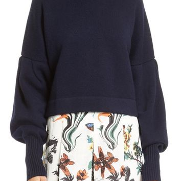 Tibi Pleated Sleeve Cashmere Sweater | Nordstrom