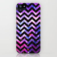 Girly Chevron Pattern Cute Pink Teal Nebula Galaxy iPhone Case by Girly Trend | Society6