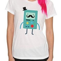 Adventure Time BMO Stache Girls T-Shirt - 326437