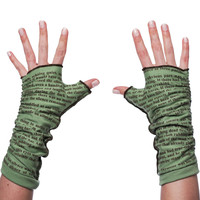 The Name of the Wind Writing Gloves