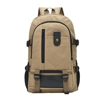 Student Backpack Children Aelicy High quality Large capacity backpack leisure travel solid color canvas backpack student bag Fashion Unisex Backpack AT_49_3