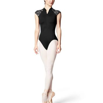 Zip Front Cap Sleeve Women's Leotard L9942 by Bloch