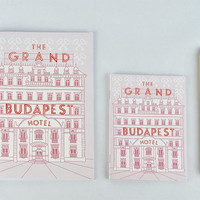 The Grand Budapest Hotel Notebook - Wes Anderson journal, Zubrowka, ralph fiennes, royal tenenbaums