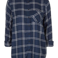 PETITE Oversized Check Shirt - Topshop