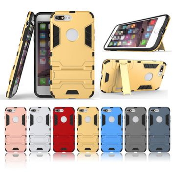 Cool Armor Case For iPhone X 5 5S 5C SE 8 Plus Hybrid Shockproof Phone Case For iPhone 7 Plus 6 6S Plus Anti-knock Fitted Cover
