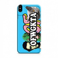 Odd Future blue with logos iPhone X case