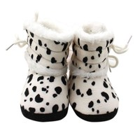 0-18M Cute Infant Kids Baby Warm Boots Casual Soft Sole Fleece Warm Snow Boots Shoes