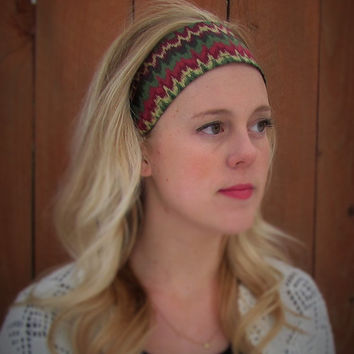 handmade retro style headband. red bandana. tiffany blue headband. aztec chevron headband. dolly bow. biker head wrap. gift for her