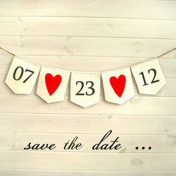 SAVE the DATE Banner, Save the Date sign, white wedding banner, Postcard photo prop, CUSTOM colors