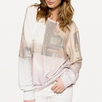 MOTEL MIRRORS BAGGY BEACH JUMPER at Wildfox Couture in  MULTI