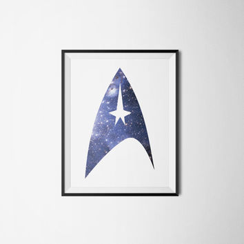 Star Trek Art Print - Geek Art Galaxy Wall Art Home Decor - Art Printable