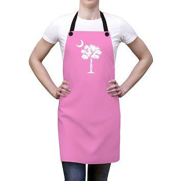 SC Palmetto Moon State Flag Apron - Pink