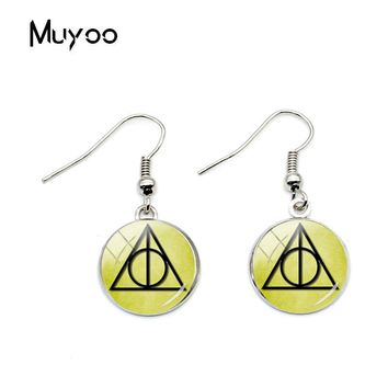 2018 New Design Always Patronus Gryffindor Snape Earrings After All Always Geekery Fish Hook Earring Glass Photo Round Jewelry