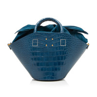 Small Basket Bag With Embossed Croc | Moda Operandi