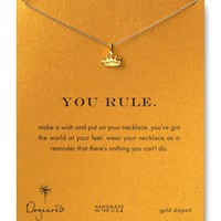 """Dogeared You Rule Necklace, 18"""" 
