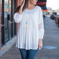 Casual Confidence Top, White