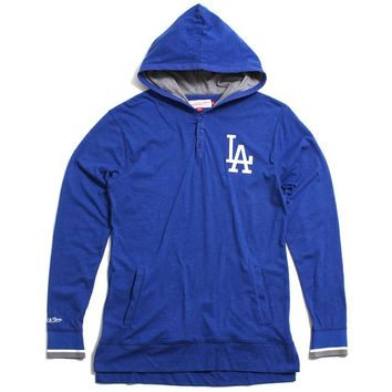 Los Angeles Dodgers Seal The Win Hooded Longsleeve Shirt Heather Blue