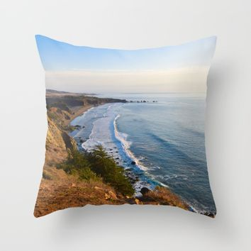 Big Sur, California Coast Throw Pillow by leahdaniellle