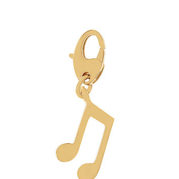 Kate Spade Music Note Charm Gold ONE