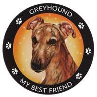 Greyhound My Best Friend Magnet