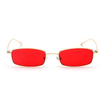 The Tiny Rectangle Sunglasses Red