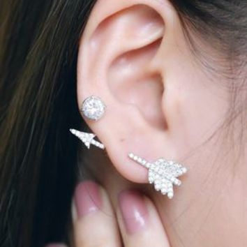 Cupid's Arrow Wrapping Ear Cuff (Single, 1 piercing) - LilyFair Jewelry
