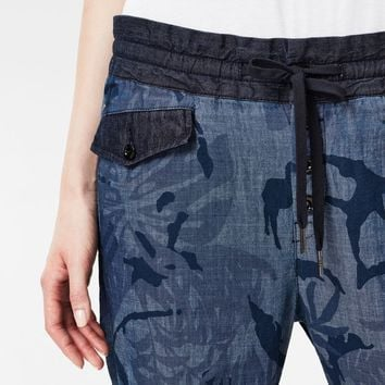 Army Button Sport Pants | Rinsed/Sartho Blue Ao | G-Star RAW®