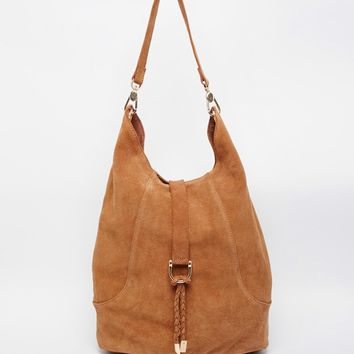 Faith Low Slung Hobo Bag In Tan At Asos