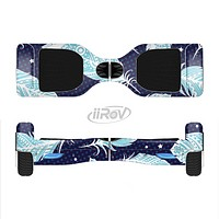 The Blue Aztec Feathers and Stars Full-Body Skin Set for the Smart Drifting SuperCharged iiRov HoverBoard