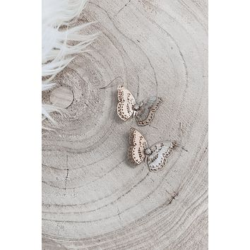Stand Out Statement Butterfly Earrings