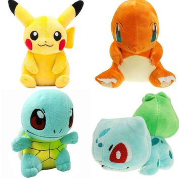 20CM pikachu Plush Toy Jigglypuff Poliwhirl Charmander Gengar toys sleeping pillow Doll For Kid baby birthday gifts Anime Soft