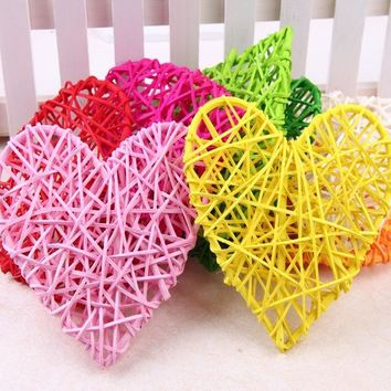 10cm Rattan ball heart vine confetti Scatter for Gift box Craft Birthday Wedding Party table centerpieces favor Decor DIY