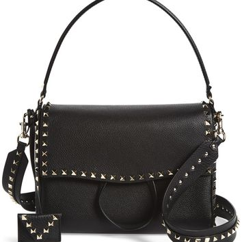 VALENTINO GARAVANI Medium Rockstud Leather Shoulder Bag | Nordstrom