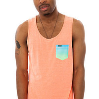 Hurley Tank Top Pocket Knit Tank Top Orange