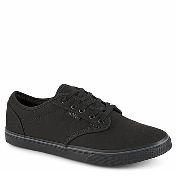 BLACK VANS Womens Atwood Low