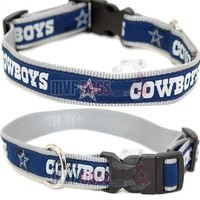 Dallas Cowboys NFL Woven Ribbon Dog Collar